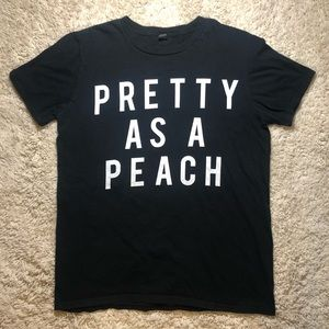 6/$20 Anvil medium 'Pretty as a peach' t shirt